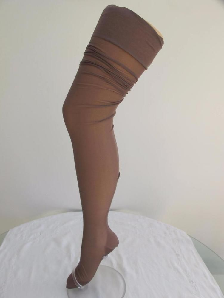 8287b6af1ab PAIR of VINTAGE 1940 s BROWN PURE SILK FULLY FASHIONED SEAMED STOCKINGS