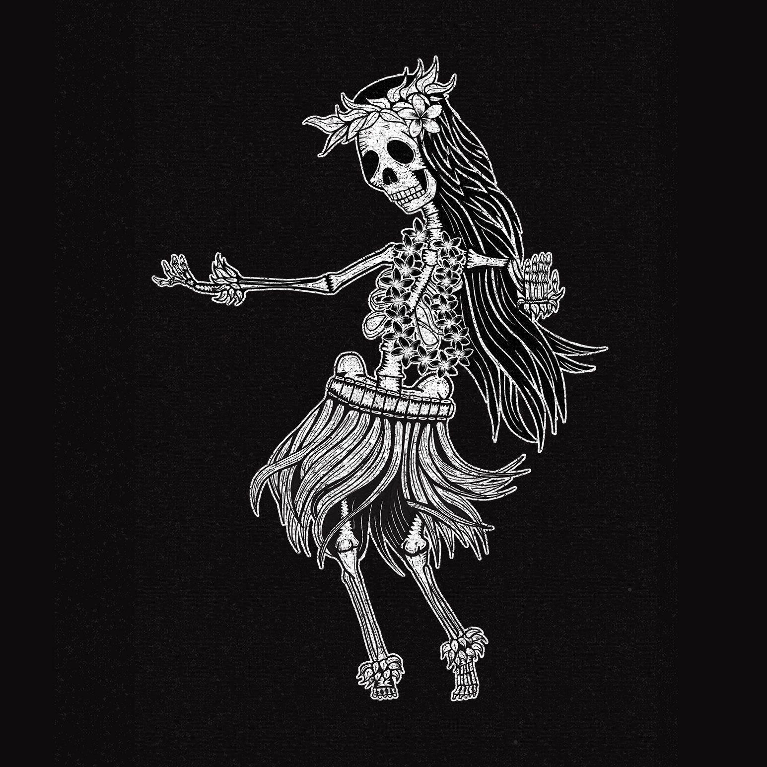 Made with #procreateapp, #ipadpro and #photoshop. #character #skeleton #huladancer #hula #halloween