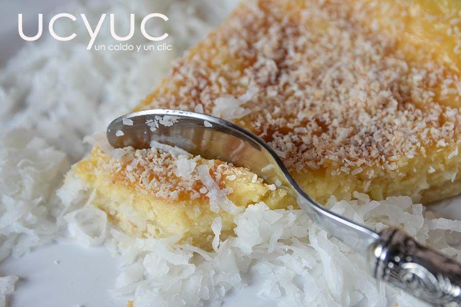 tarta cremosa de coco