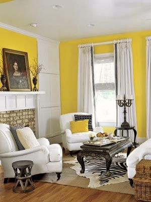 32 Cheerful Yellow Rooms That Will Brighten Your Home | White ...