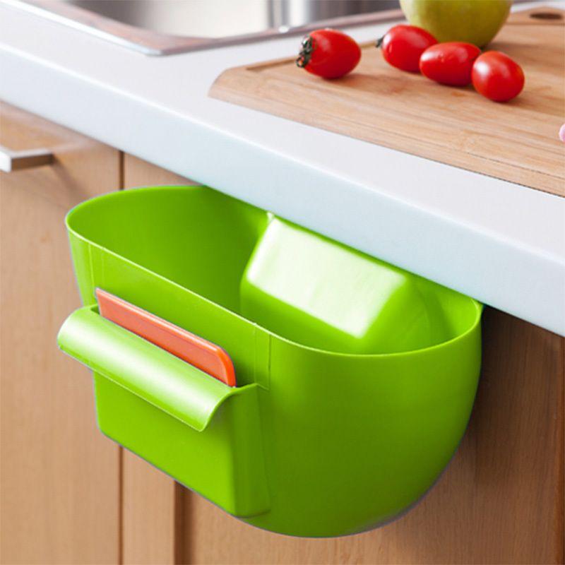 Cute Home Kitchen Cabinet Trash Storage Box Organizers Garbage Holder Portable 74823