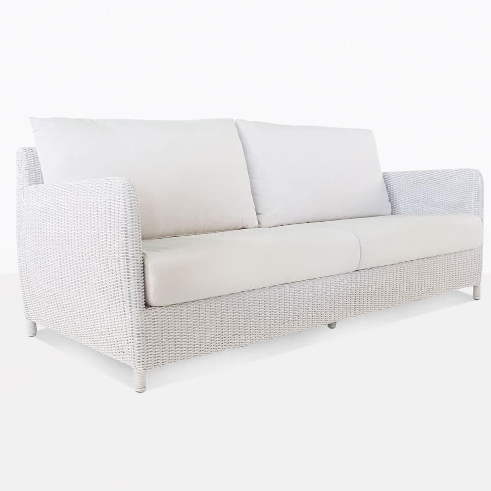 Valhalla White Outdoor Wicker Club Chair Lounges Design Warehouse Nz Wicker Sofa Outdoor Sofa Wicker Sofa Outdoor
