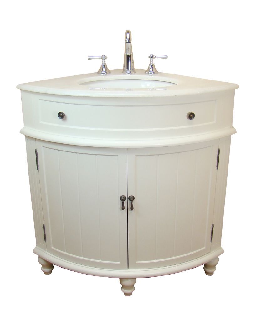 Benton Collection Light Blue Thomasville Corner Bathroom Sink Vanity Dimensions 24 X Rox Featuring A White Marble Top And Sy Body