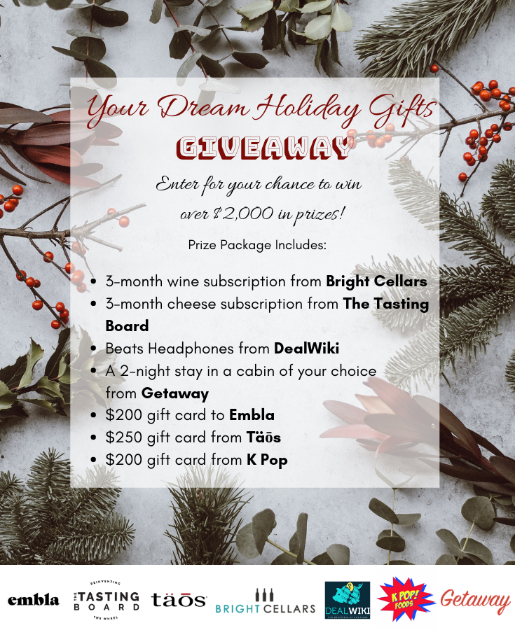 Your Dream Holiday Gifts Giveaway Holiday Gifts Holiday Dream Holiday