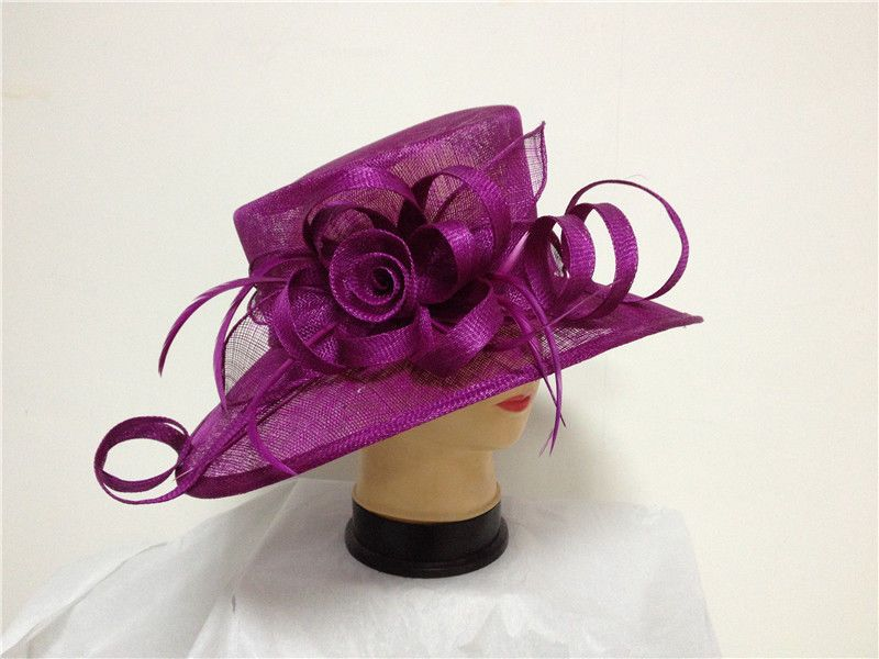 e1b89e9a Wedding church hat ascot race mother of the bride ladies day hat model 4