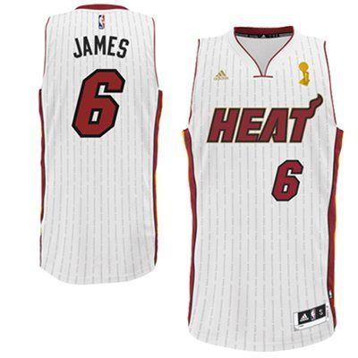 huge discount b7914 b772b adidas LeBron James Miami Heat Trophy Ring Banner Swingman ...