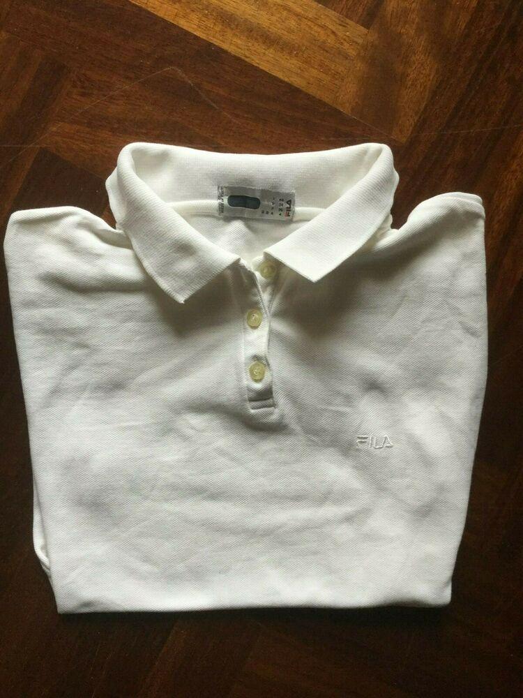 Maglia fila donna smanicato polo gilet shirt jersey size I ...