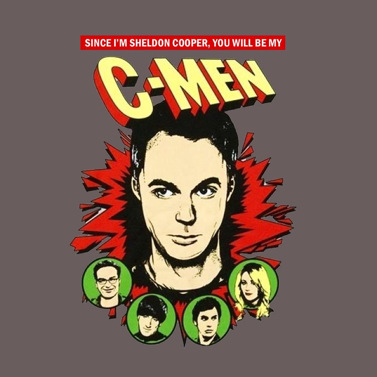 Camiseta The Big Bang Theory. Sheldon, C-Men