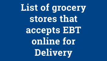 Can You Buy Groceries Online With Ohio Ebt Card Food Stamps Now In 2020 Grocery Food Stamps Grocery Store
