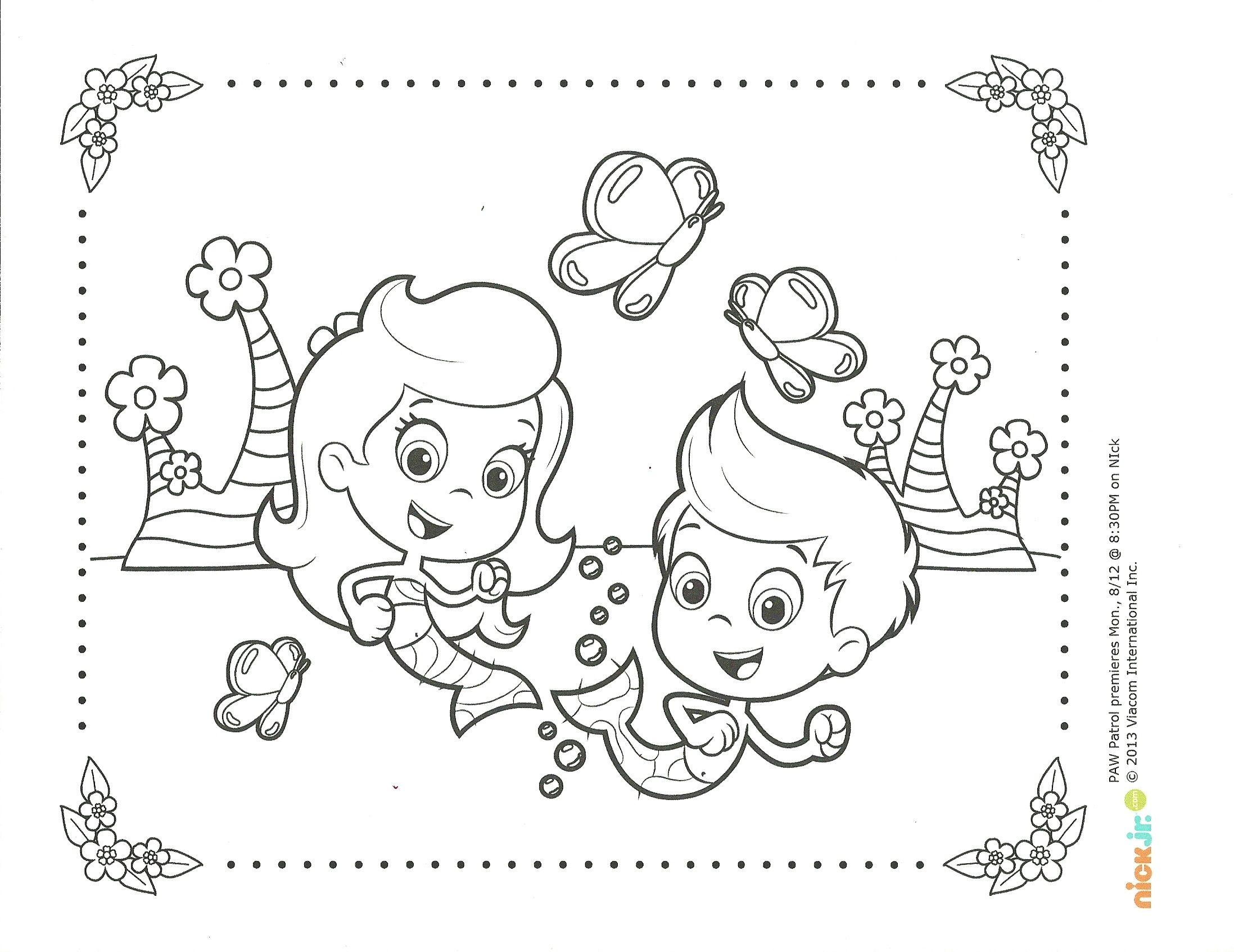 Bubble Guppies Springtime Coloring Page Bubble Guppies Coloring Pages Coloring Pages Coloring Books