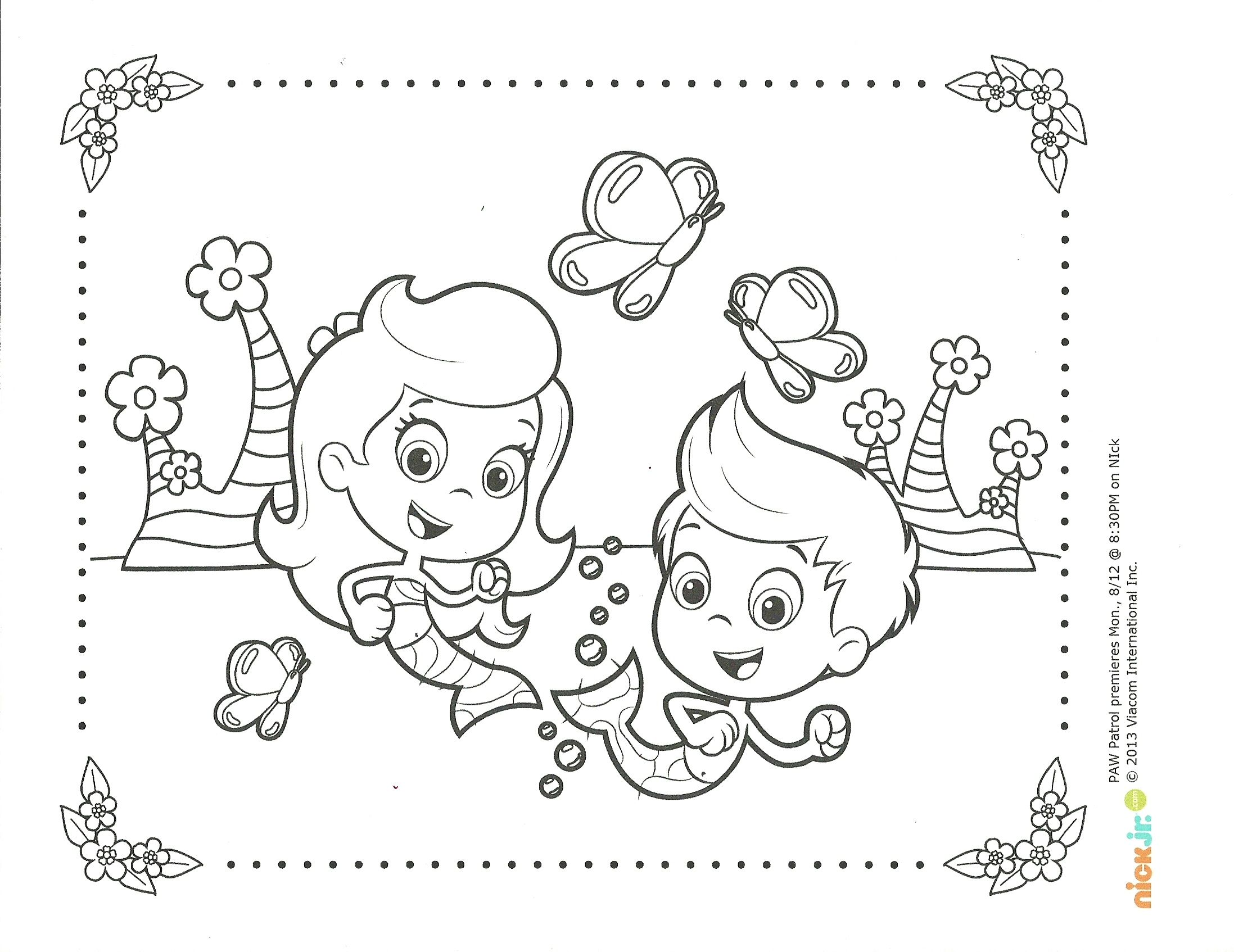 Bubble Guppies Springtime Coloring Page Bubble Guppies Coloring