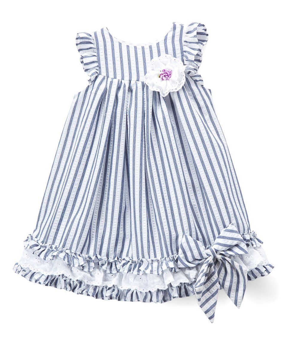 Take a look at this blue u white stripe bowaccent angelsleeve