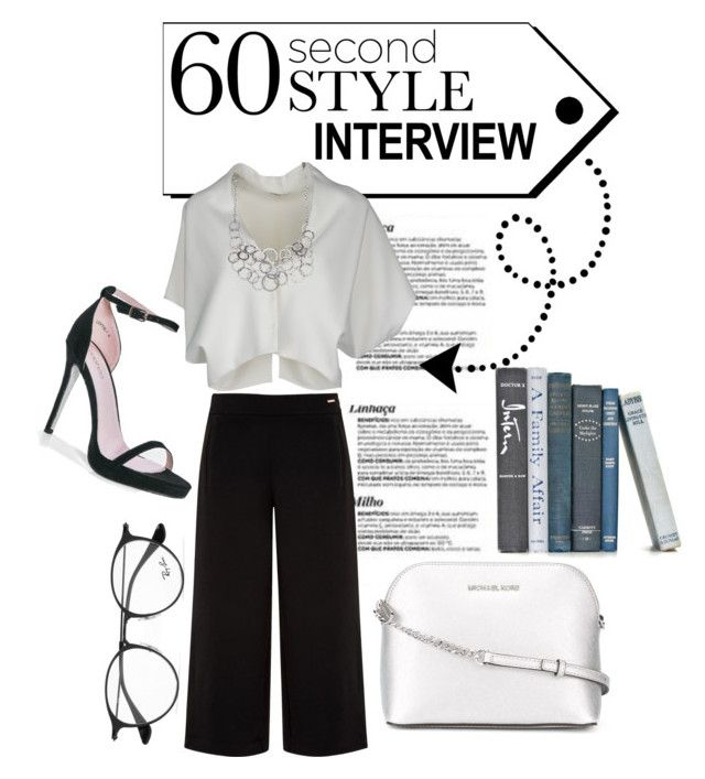 """""""Interview"""" by carmencherie ❤ liked on Polyvore featuring Ted Baker, Vionnet, Boohoo, MICHAEL Michael Kors, Ray-Ban, jobinterview and 60secondstyle"""