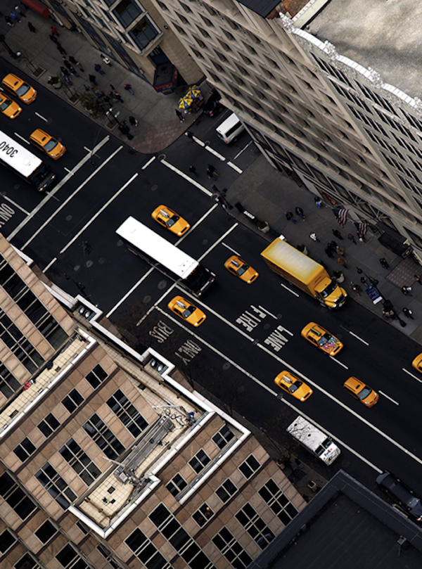 Aerial View of a NYC Street via Murray Mitchell