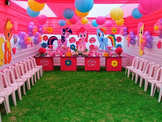 Decoración de Fiestas Infantiles de My Little Pony | Decoraciones ...