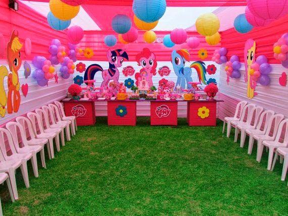 Decoraci n de fiestas infantiles de my little pony for Decoracion jardin infantes