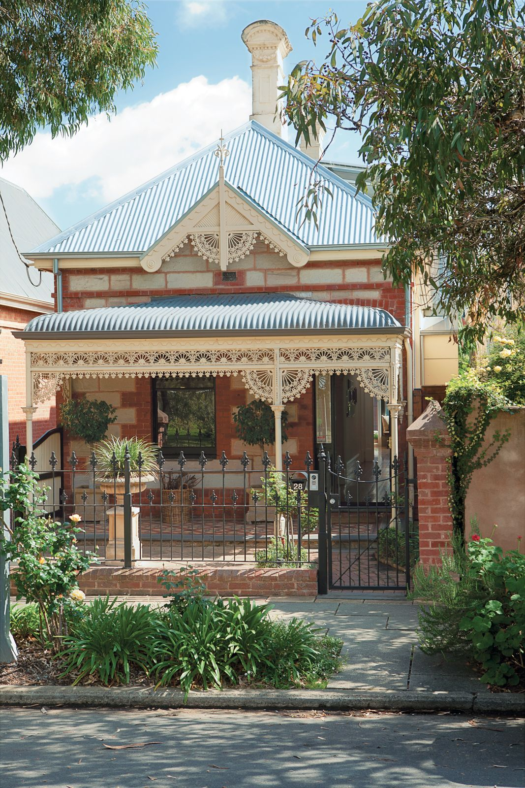 Victorian house colorful interiors for a classy exterior south yarra -  Front Of That Gorgeous House I Just Pinned Brammy Kyprianou Residence Facade Victorian Brick And 1880 Sandstone And Galvanized Iron Ornamentation