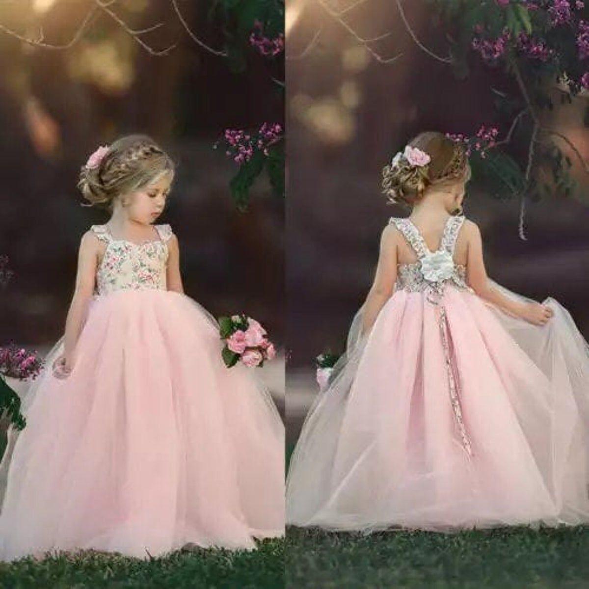 5t Princess Wedding Birthday Party Dress Princess Flower Girl Dresses Flower Girl Dresses Tulle Flower Girl Dress Lace [ 1200 x 1200 Pixel ]