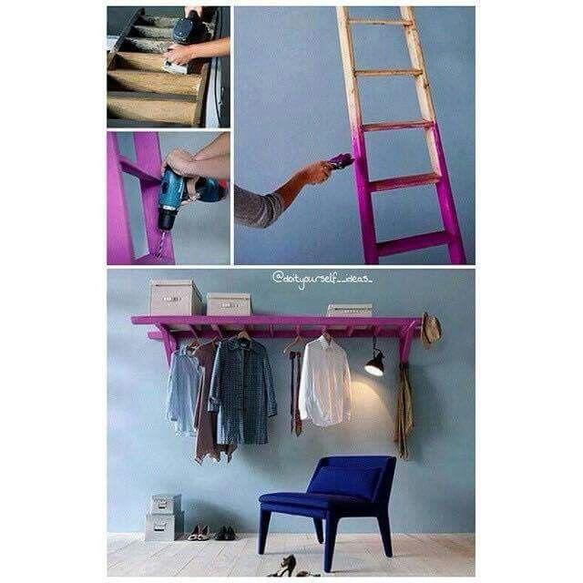 leiter regal do it yourself inspiration pinterest leiter regal und wanddeko. Black Bedroom Furniture Sets. Home Design Ideas