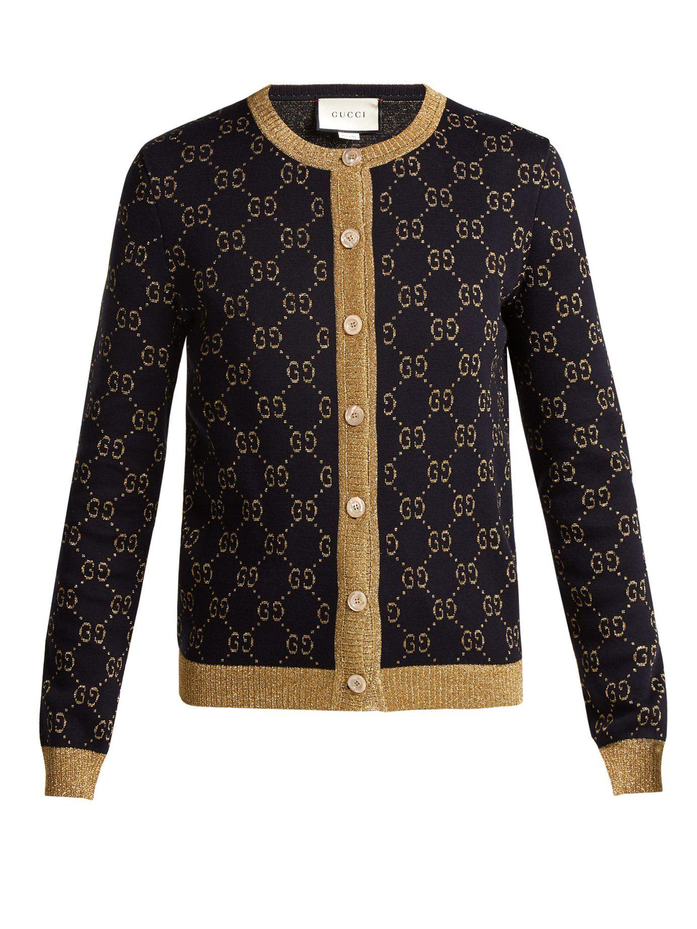 d566359a13 GG jacquard-knit cotton-blend cardigan | Gucci | MATCHESFASHION.COM ...