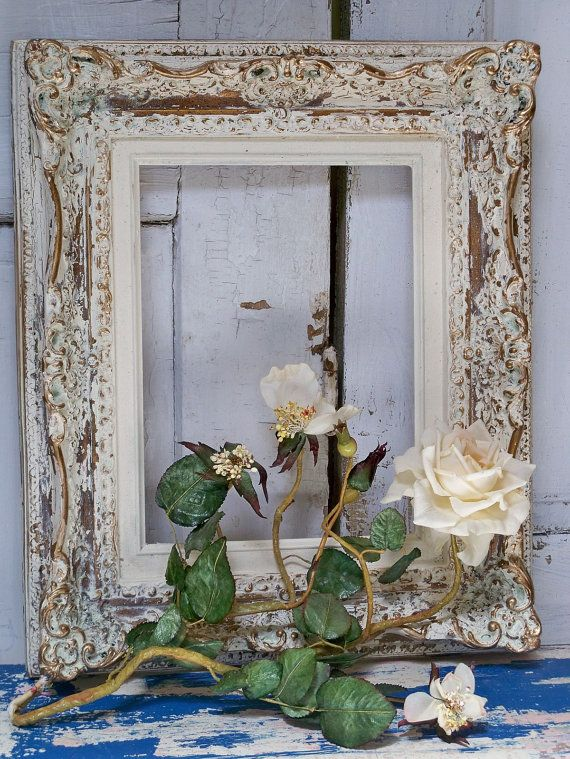 ornate hand painted frame shabby chic cream by anitasperodesign rh pinterest com