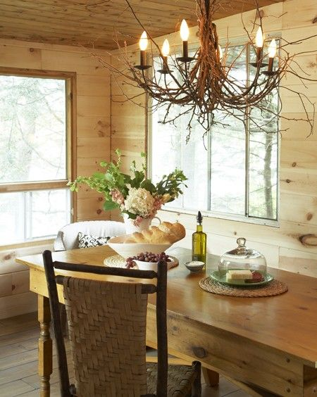 Photo Gallery Cottages & Country Houses  Pine Walls Chandeliers Enchanting Country Dining Room Lighting Review