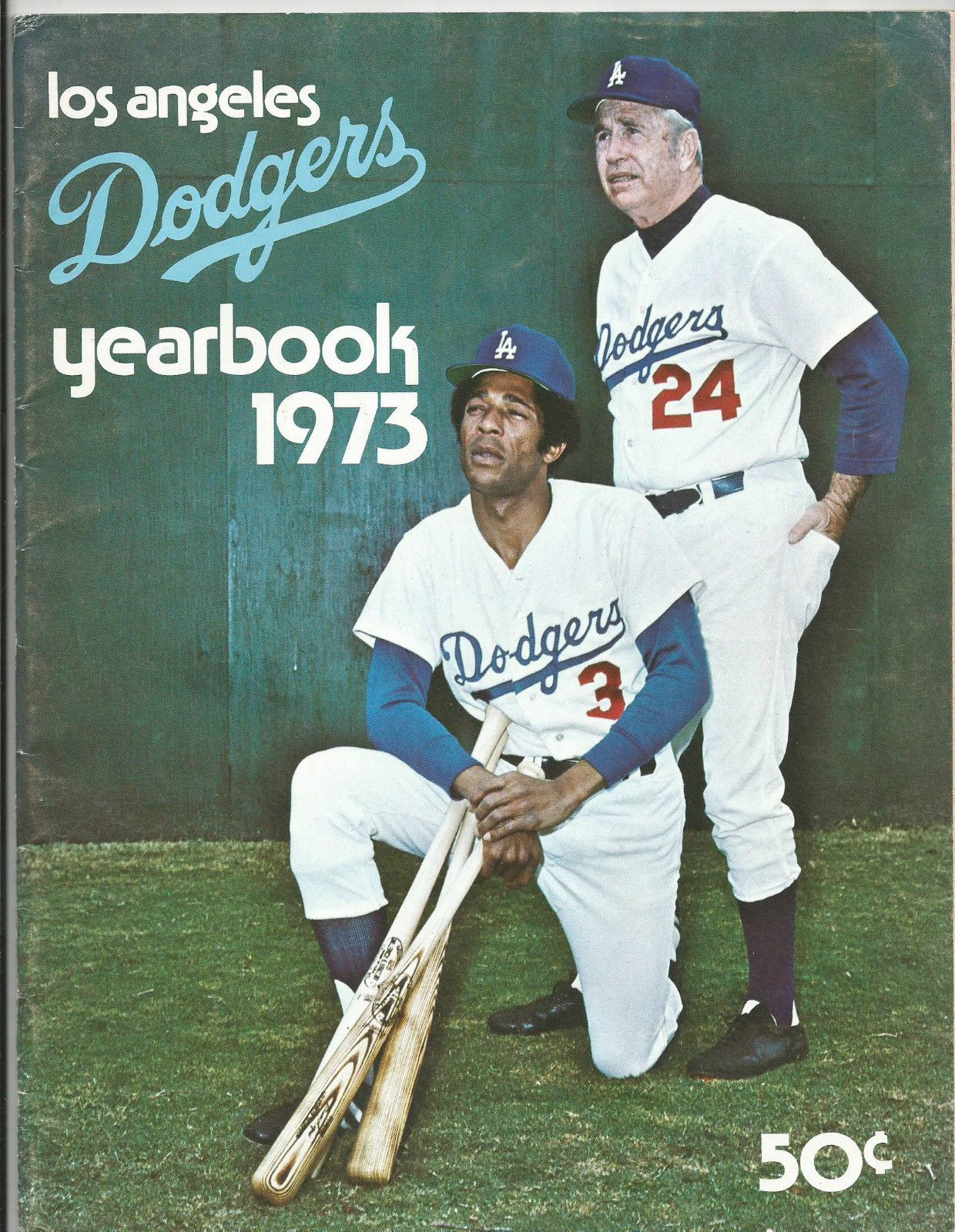 1973 Los Angeles Dodgers Yearbook Mlb Dodgers Dodgers Baseball Los Angeles Dodgers