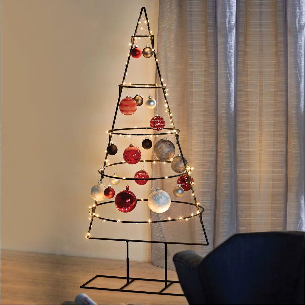 Weihnachtsbaum Metall.Weihnachtsdeko Aufsteller Weihnachtsbaum Christbaum Metall 5 Ebenen