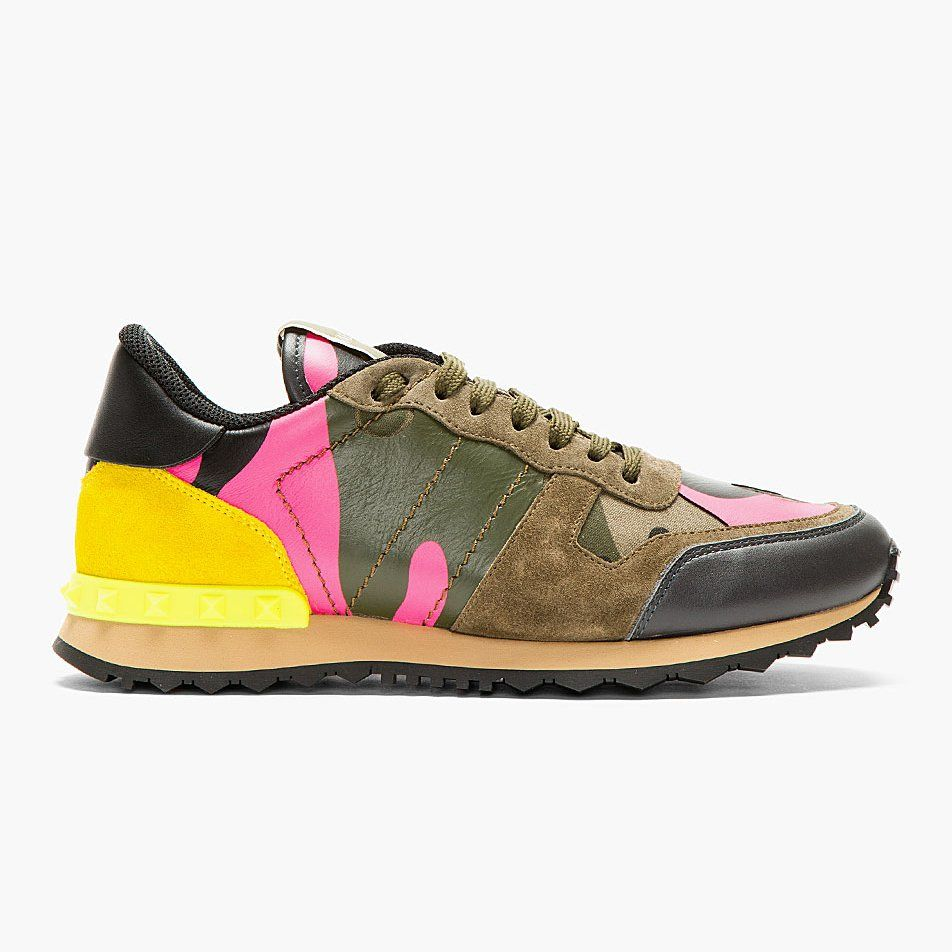 Shoes By Studded Green Camo Running ValentinoStuff QrCoeEdxBW