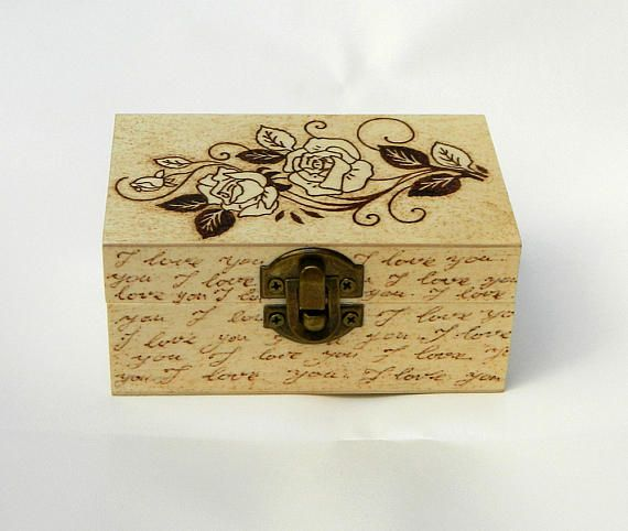 Romantic Gift For Girlfriend Vintage Rose Unique Gift Wooden Box