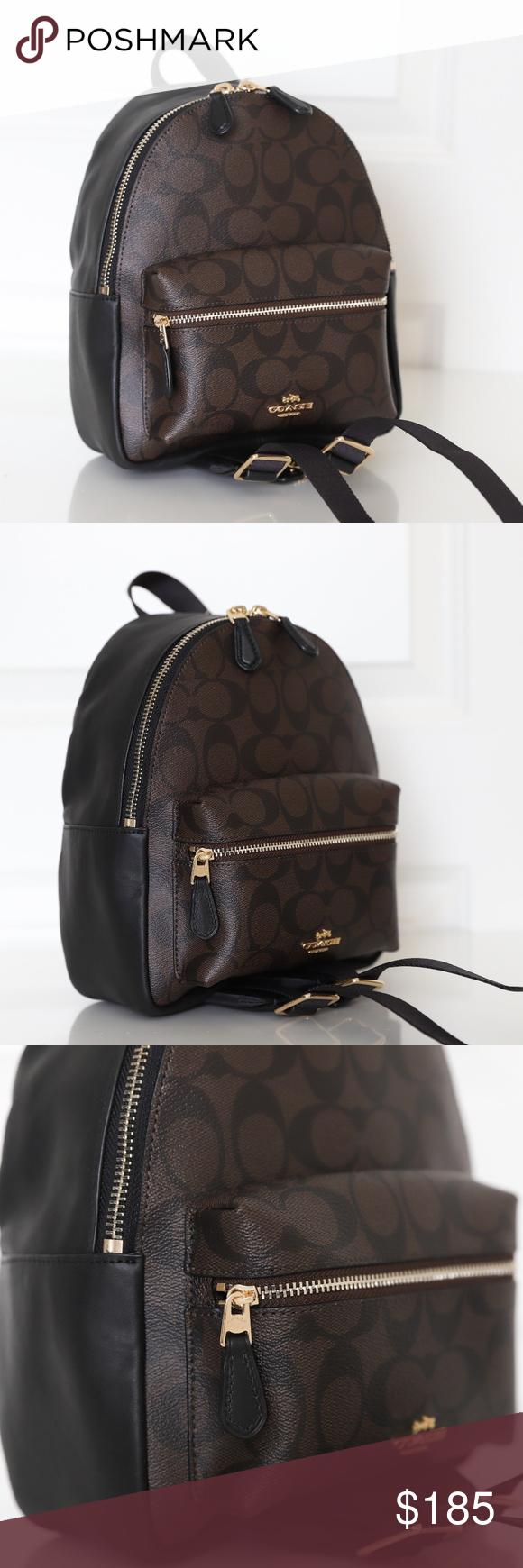 bee1eba66242 ... closeout coach f58315 mini charlie signature backpack nwt coach f58315 mini  charlie signature backpack bag brown
