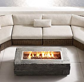 propane patio fires | Restoration Hardware | Fire table ...