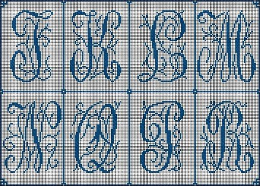 Cross Stitch Alphabets free patterns | abecedarios | Pinterest ...