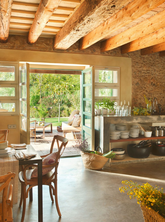 Old Barn Turned Into a Cozy Home, France | Bauernhaus
