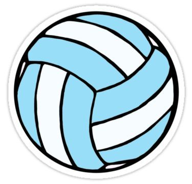 Blue And White Volleyball Sticker In 2020 Preppy Stickers Bubble Stickers Red Bubble Stickers