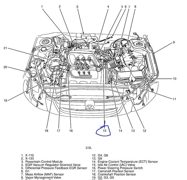 Mazda Engine Diagram