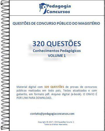 320 Questoes Colecao Conhecimentos Pedagogicos Questoes De