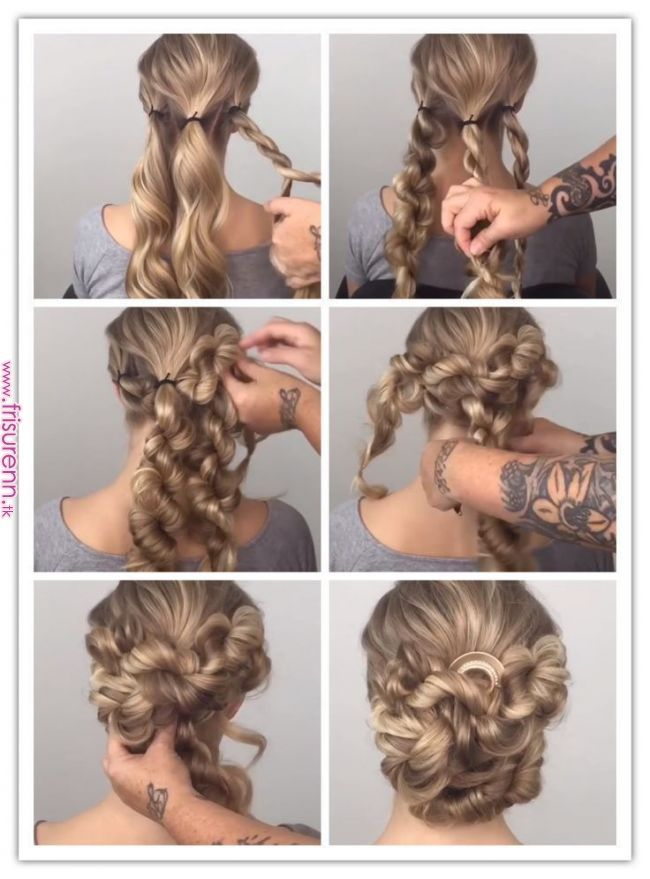 Brotchen Mit Gedrehten Zopf Haarpflege Pricheski In 2019 Pinterest Hair Styles Hair And Braids Prom Hairstyles For Long Hair Hair Styles Diy Hairstyles