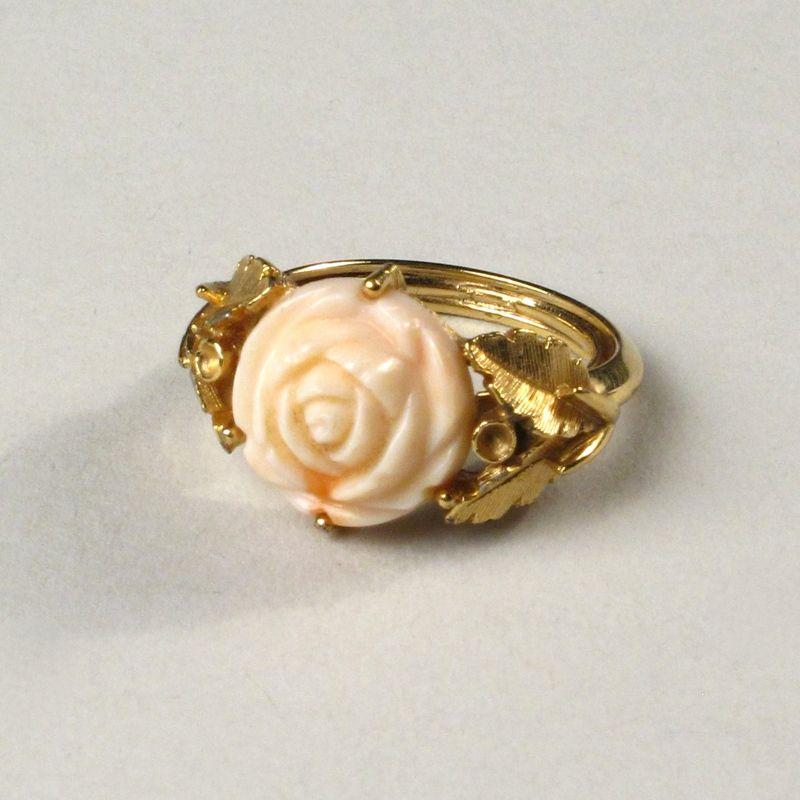Vintage Avon Enamel Rose Ring Vintage Jewelry Avon