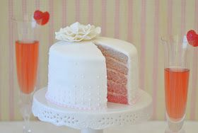 Building Buttercream: Champagne & Strawberries Ombre Cake