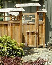 Japanese Style Fence and Gate of Cedar