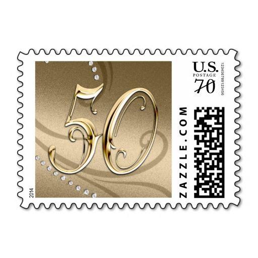 Small 50th Anniversary Postage Stamp Zazzle Com Postage Stamps Wedding Stamp Birthday Postage