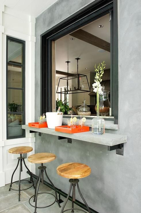 concrete uses for every room of your home kitchens pinterest rh pinterest com pass through window kitchen dining room pass through window kitchen