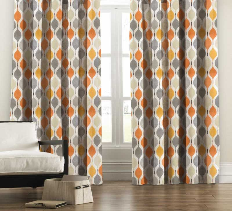 Orange curtain | Neot Golf | Pinterest | Orange curtains, Living ...