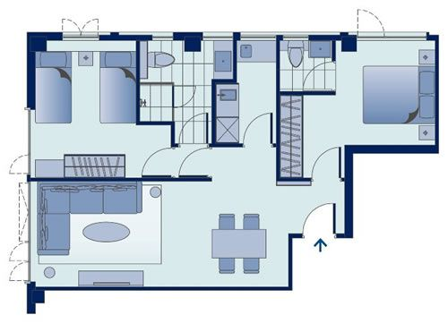 Two Bedroom Apartment Bedroom Hotel Two Bedroom Apartments House Floor Plans