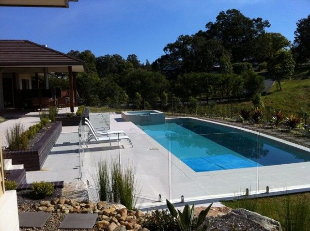 Gold Coast Semi Frameless Glass Pool Fencing For Helensvale Call 0406728704 Glass Pool Fencing Pool Pool Fence