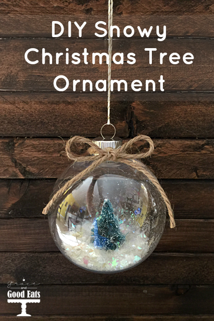 These DIY Snowy Christmas Tree Ornaments are so easy to make and so much cheaper than the pre-made version sold in stores.