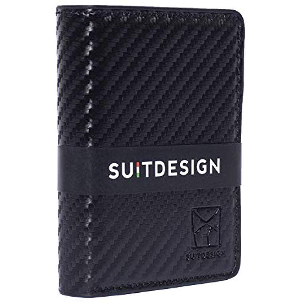 Porta carte di credito portafoglio uomo RFID con Case in