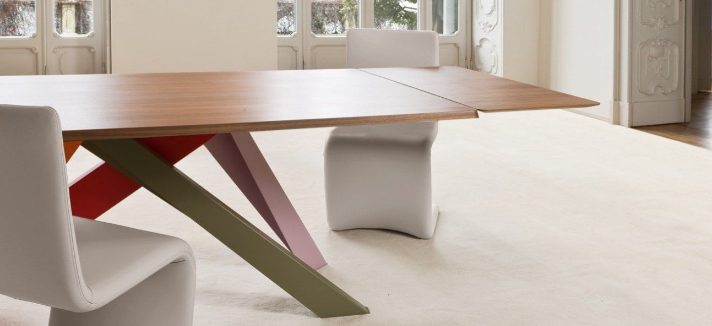 Bonaldo Big Table Allungabile.Big Table Gambe Colorate Modern Dining Table Extendable Dining