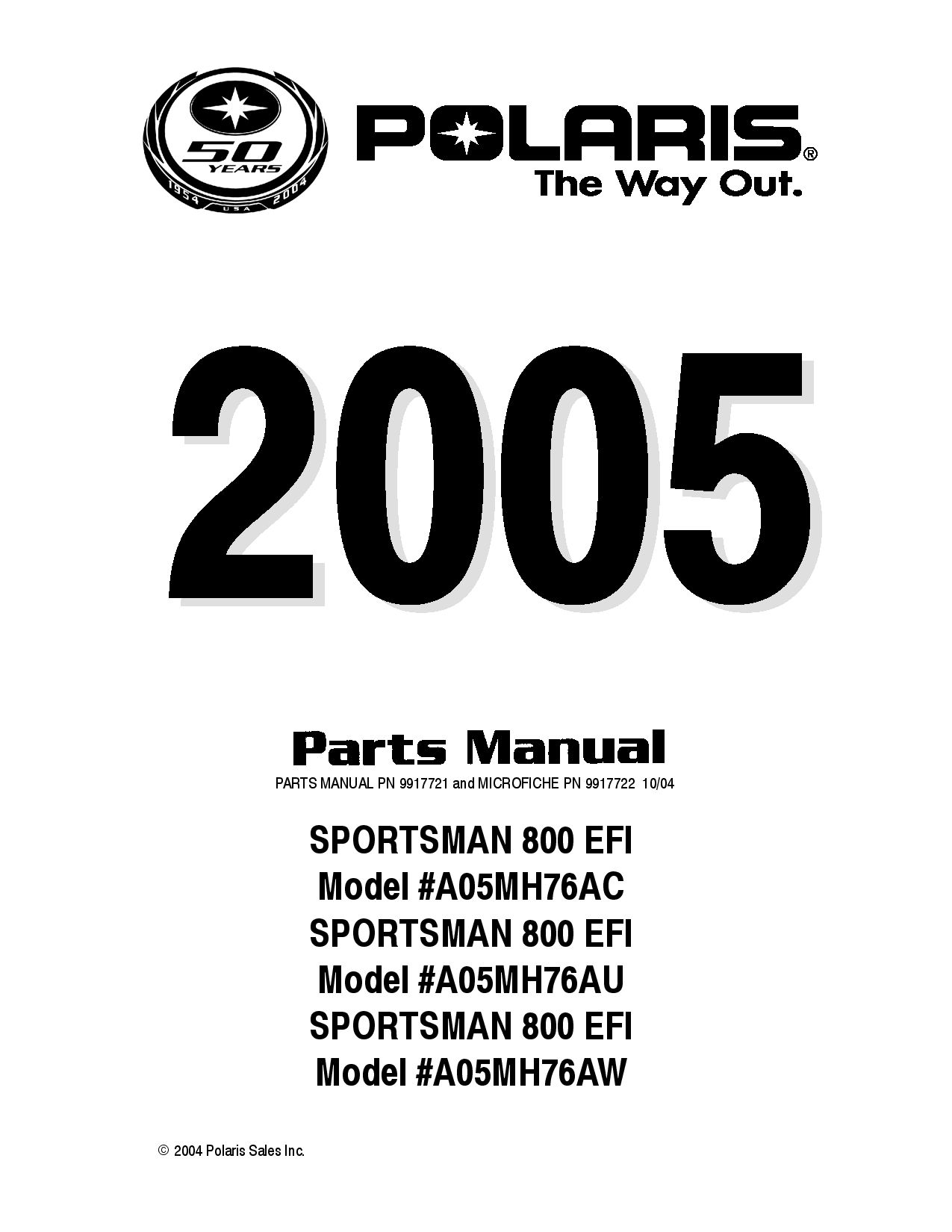 Polaris Sportsman 800 Twin Efi Parts List Pdf Download Service Manual Repair Manual Pdf Download Pdf Download Repair Manuals Manual